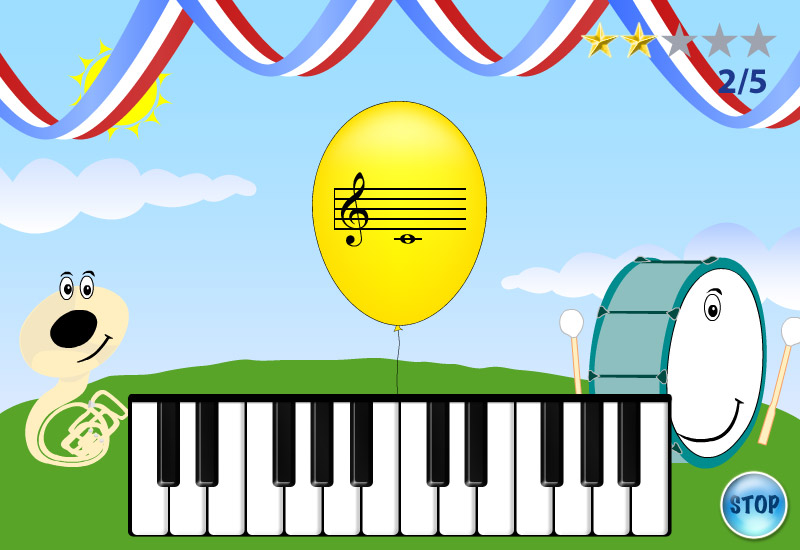 My Piano game screen